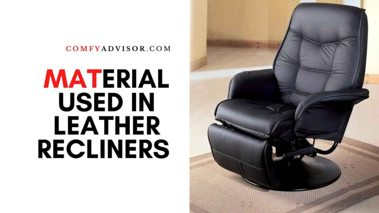 Material used in Leather Recliners