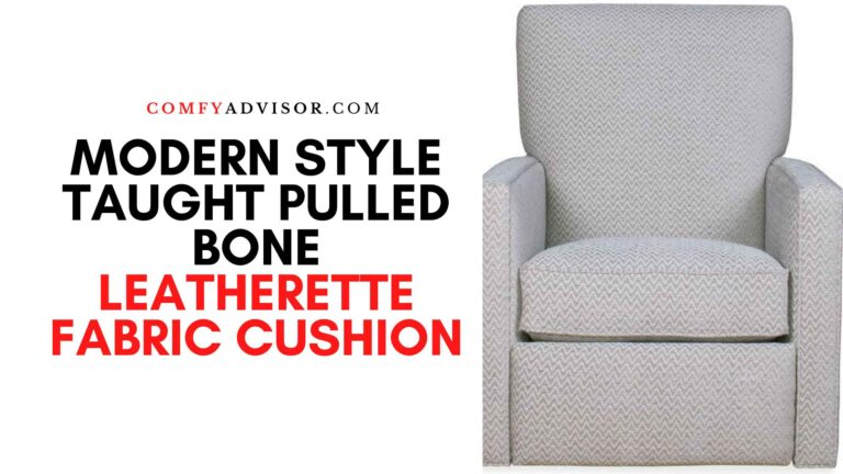 Modern Style Taught Pulled Bone Leatherette Fabric Cushion